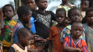 Unhappy African Children