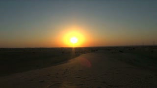 United Arab Emirates Desert Sunset