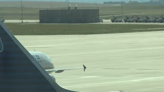 United Plane Taxiing to Runway Takeoff 2