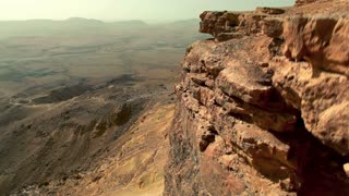 Up and Over Cliff Face of Mitzpe Ramon Crater