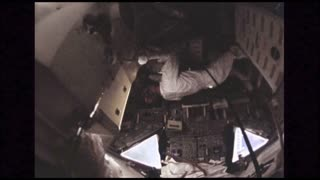 Upside Down Astronauts in Module