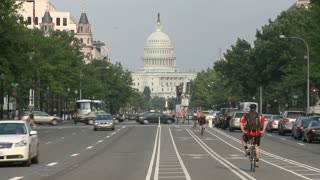 US Capitol Building Street Timelapse