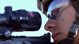 U.S. infantry soldier sniper