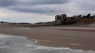 U.S. Navy landing craft, air cushion Landing at Onslow Beach