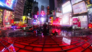 USA, New York City, Manhattan, Times Square, Neon lights at night, New York City, USA