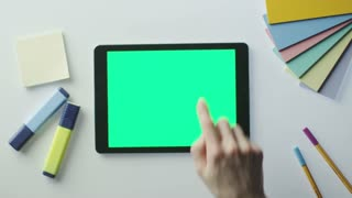 Using Tablet with Green Screen on Designer's Table. Great For Mock-up Usage.
