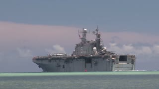 USS Peleliu (LHA-5) RIMPAC ship depart for sea phase