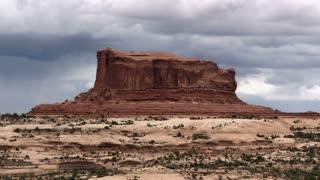 Utah Cloudy Butte Timelapse