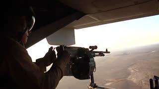 V22 Mv22 Osprey helicopter door gunner