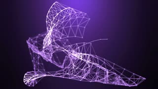 Vector mesh, modern technology as abstract background. Ultra High Definition 4K animation.