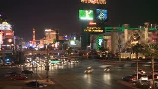 Vegas Casino Roadway Timelapse