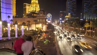 Vegas Casino Street Traffic Timelapse