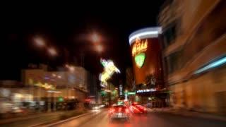 Vegas Driving Cars Timelapse