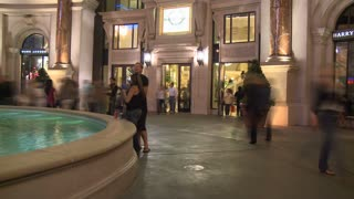 Vegas Foot Traffic Timelapse
