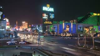 Vegas MGM Grand Street Timelapse