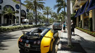 Vehicles on Rodeo Drive, Beverly Hills, Los Angeles, California, United States of America, North America, T/lapse