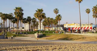 Venice Beach Boardwalk And Bike Path Stock Video Footage Videoblocks