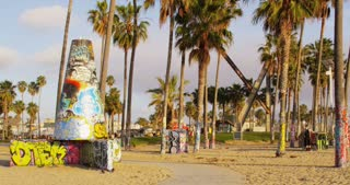 Venice Beach Graffiti and Bike Path