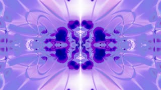 Vertically Mirrored Movement of Puple and Blue Patterns