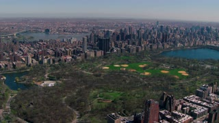 Vibrant Central Park Aerial