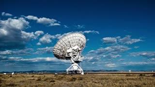 Vibrant Sky Satellite Dish Timelapse