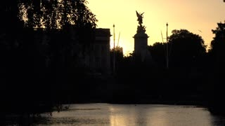 Victoria Memorial at Sunset