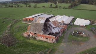 4K Aerial of Tornado Aftermath