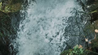 4K Aerial Over Majestic Waterfall