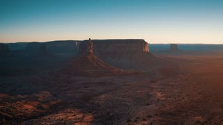 4K Aerial Shot of Monument Valley Arizona at Sunset