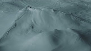 4K Aerial Slow Mo Shot of Foamy Ocean Waves