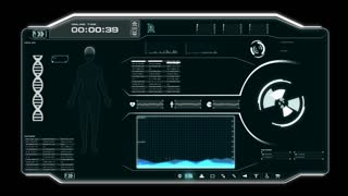 4 K Animation Hud Panel Graph Bar User Interface For Cyber Futuristic Medical And Health Care Concept 1