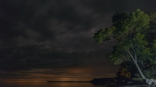 4K Timelapse Sequence of Bruce peninsula, Canada - The sky at Night