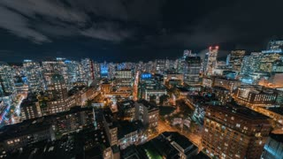 4K Timelapse Sequence of Vancouver, Canada - Downtown Vancouver at Night