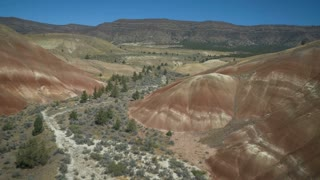 4K UHD Aerial Flying Over Oregon Painted Hills