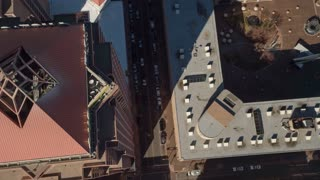 4K UHD Aerial Birds Eye View of Buildings in Albuquerque New Mexico