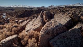 4K UHD Aerial Over Rocky Landscape