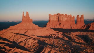 4K UHD Aerial Panning Shot of Monument Valley in Arizona