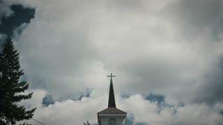 4K UHD Church Steeple Timelapse