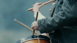 4K/UHD Civil War Drummer Slow Motion