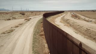 4K/UHD Drone of Mexico Border Wall