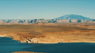 4K UHD Panning Shot of Lake Powell in Arizona
