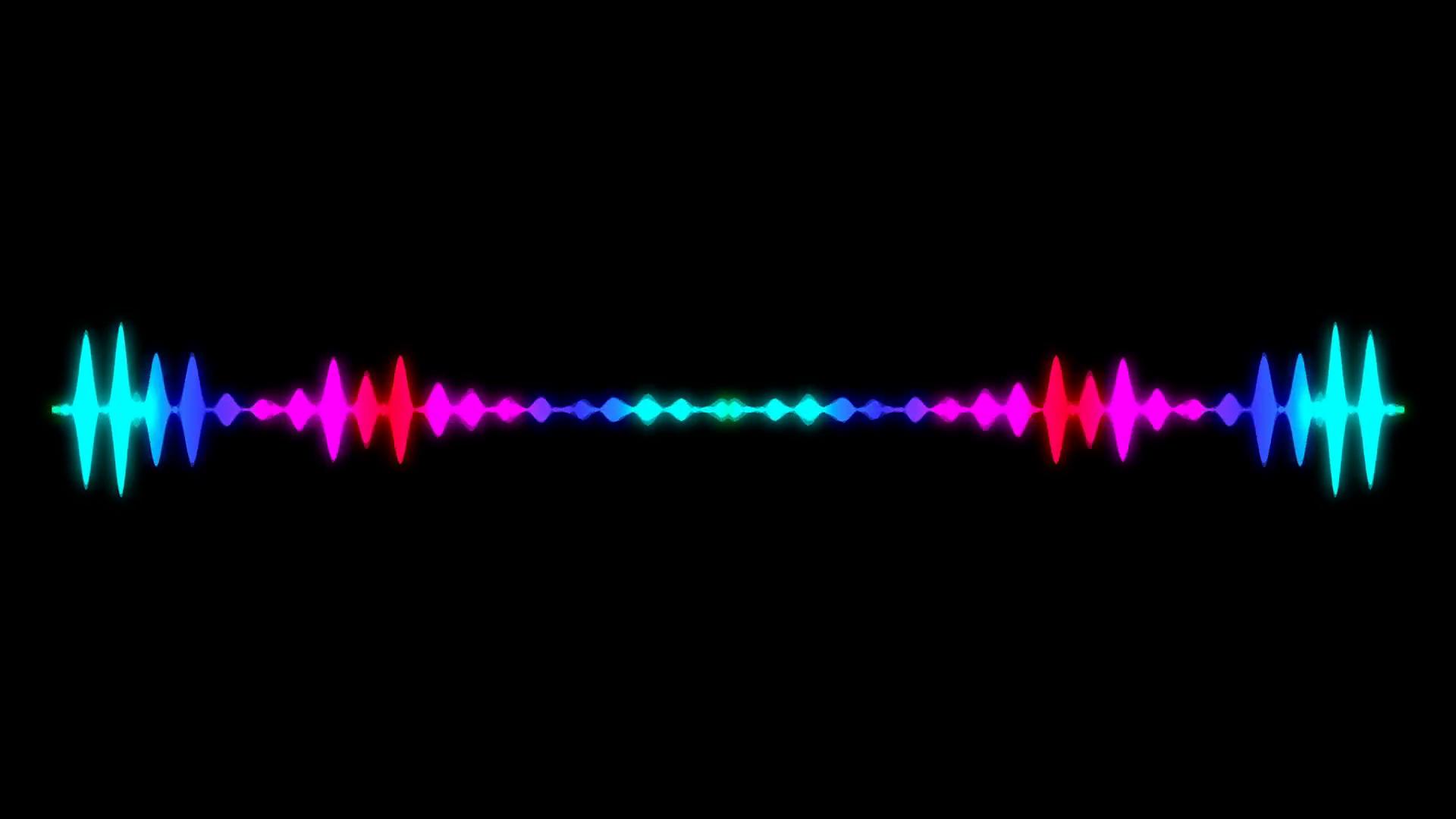 Abstract audio visualizer equalizer. Digital illustration ...