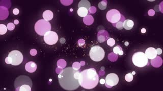 Abstract background animation with dots
