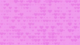 Abstract background animation with hearts