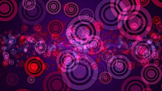 Abstract background with circles stroke. Seamless loop
