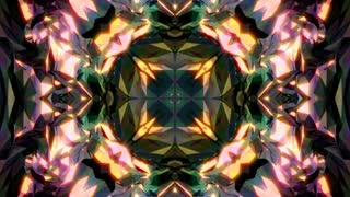 Abstract background with diamond kaleidoscope. 3d rendering
