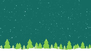 Abstract Forest And Falling Snow Winter Background