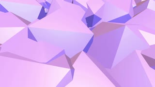 Abstract low poly waving surface as scientific visualization. Violet abstract geometric vibrating environment or pulsating background in cartoon low poly popular modern stylish 3D design 1.