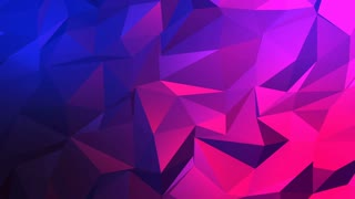 Abstract Polygon Blue Pink Background