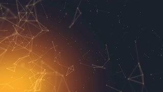 Abstract Polygonal Space Low Poly Dark Background Golden